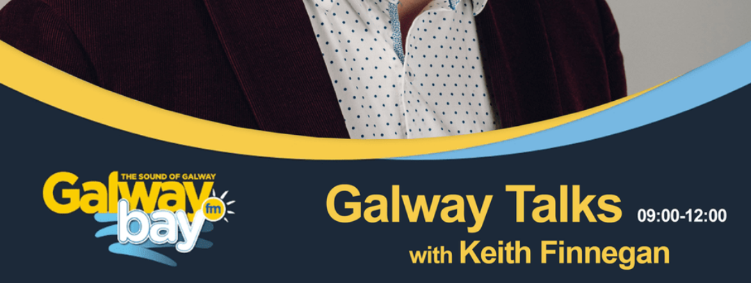 Chatting about the café on Galway Bay FM!