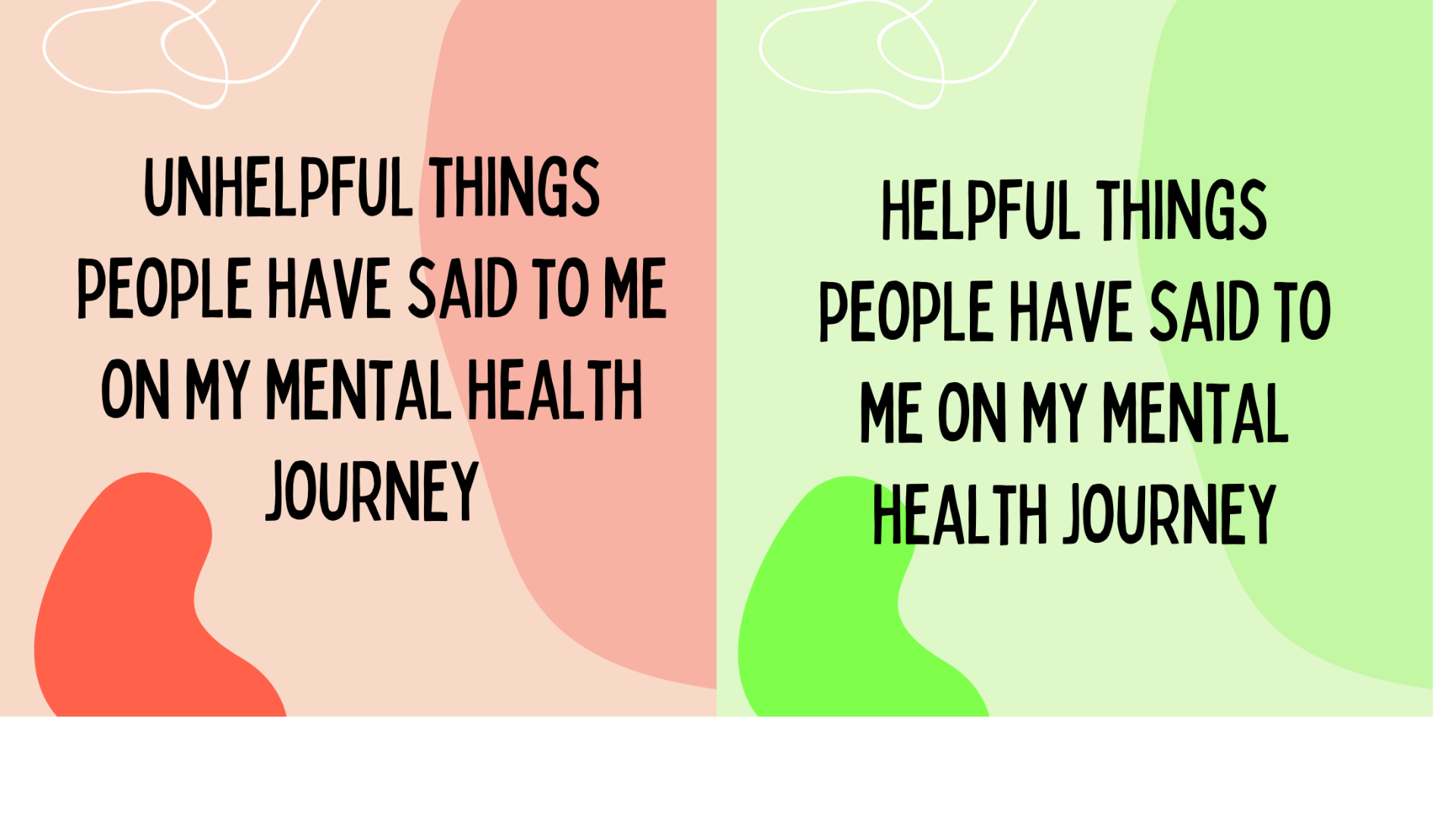 Things I have heard on my mental health journey
